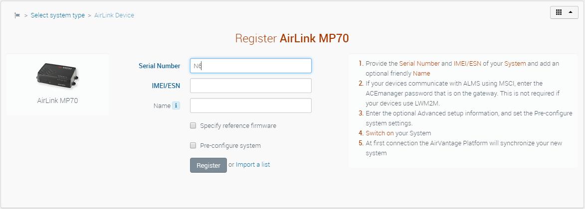 Register - av - Sierra Wireless