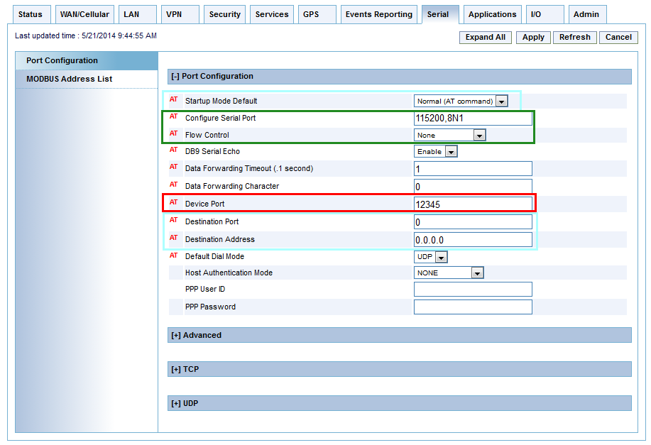 configuring ip to serial with auto answer and serial to ip modem to router diagram 1 in the acemanager, navigate to serial \u003e port configuration if you are configuring an i o x card, navigate to serial \u003e i o x card serial port